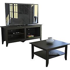 Mesa de centro+rack essential wengue