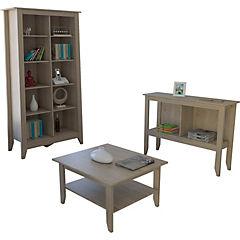 Librero+arrimo+mesa de centro Essential oak
