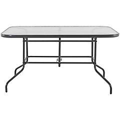 Mesa rectangular 140x90 cm con vidrio gris