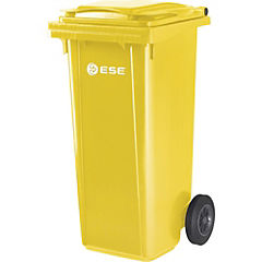 Basurero con tapa 120 litros amarillo
