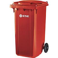 Basurero con tapa 240 litros rojo