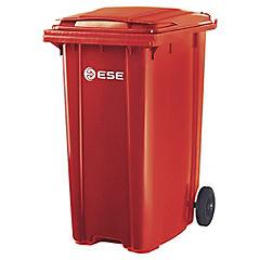 Basurero con tapa 360 litros rojo