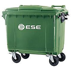 Basurero con tapa 770 litros verde