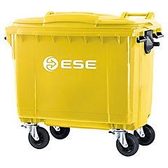Basurero con tapa 770 litros amarillo