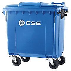 Basurero con tapa 770 litros azul