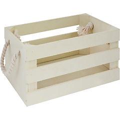 Caja decorativa 18x28x14 cm madera beige