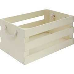 Caja decorativa 16x32x22 cm madera beige