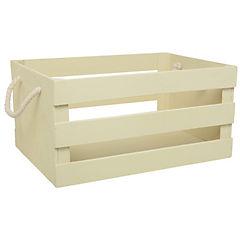 Caja decorativa madera beige