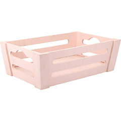 Caja decorativa rosado 30x20x10 cm