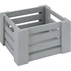 Caja decorativa 10x16x14 cm madera gris
