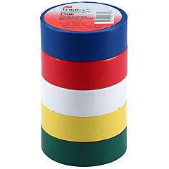 Set de cintas aisladoras eléctricas 19 mm 5 m 5 unidades