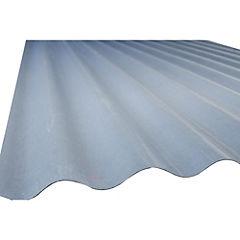 Plancha fibra de vidrio 0,7mmx85x366 m gris