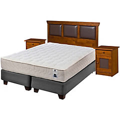 Box Spring King Base Dividida + Muebles Torino