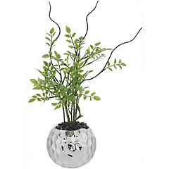 Planta artificial 26 cm con macetero