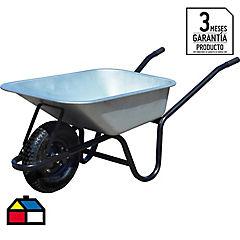 Carretilla 1 rueda acero galvanizado 60 litros