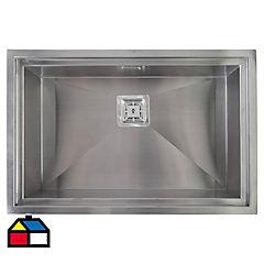 Lavaplatos 75x48x20 cm acero inoxidable