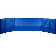 Paraviento poliéster 488x100 cm azul