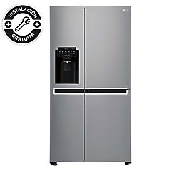 Refrigerador side by side 601 litros plateado
