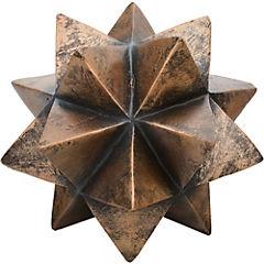 Esfera decorativa 14x16,5x16,5 cm poliresina Madera