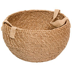 Canasto decorativo 18x32 cm yute natural