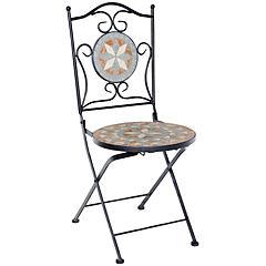 Silla plegable Kos mosaico/metal