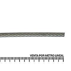 Cable de acero forro PVC 1/16