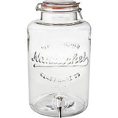 Dispensador vidrio 8 litros con tapa