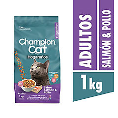 Alimento seco para gato adulto 1 kg pollo y salmón