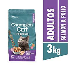 Alimento seco para gato adulto 3 kg pollo y salmón