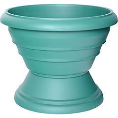 Macetero de pedestal de polipropileno 37 cm Verde