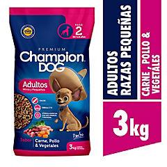 Alimento seco para perro adulto 3 kg carne, pollo y vegetales