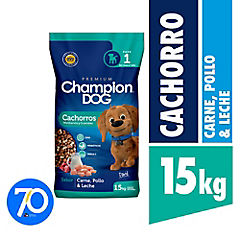Alimento seco para cachorro 15 kg carne, pollo y leche