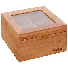 Caja para té 4 divisiones 14x8 cm
