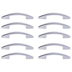Set de tiradores para muebles 96 mm 10 unidades gris