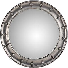 Espejo redondo plateado 68 Cm