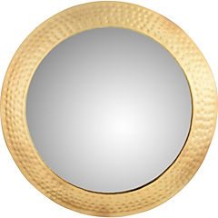 Espejo redondo dorado 68,5 cm