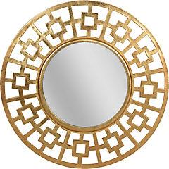 Espejo circular 61 cm dorado