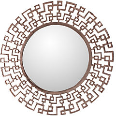 Espejo redondo geométrico cobre 61 cm