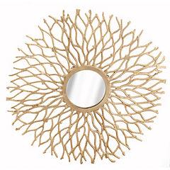 Espejo redondo ramas doradas 63 cm