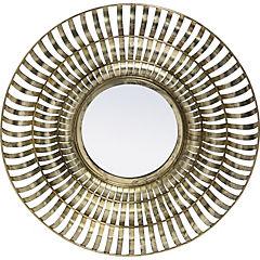 Espejo redondo dorado envejecido 61 cm