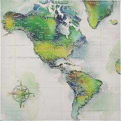 Canvas decorativo Mapa 60x60 cm