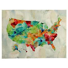 Canvas decorativo Mapa USA 120x90 cm