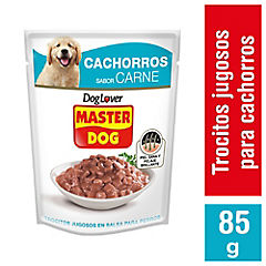 Alimento húmedo para cachorro 85 gr carne y leche