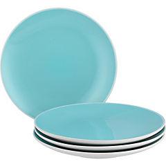 Set de platos para ensalada 4 unidades turquesa