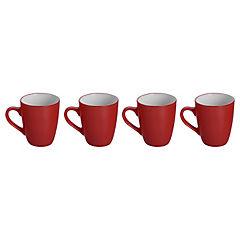 Set de tazones 4 unidades Rojo