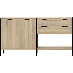 Gabinete 1 repisa 88x166x30 cm
