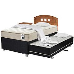 Diván base normal 1,5 plazas con textil y muebles