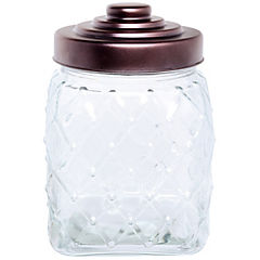 Frasco con tapa 2,4 litros vidrio Transparente