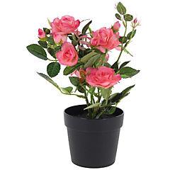 Rosa artificial 27 cm Fuscia