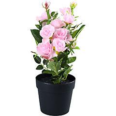 Rosa artificial 27 cm rosado